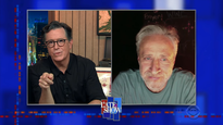 Jon Stewart visited 'The Late Show with Stephen Colbert' for pre-election self-care