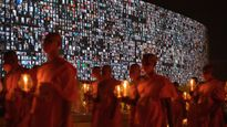 200,000 Buddhists celebrated a holy day over Zoom and the pictures are beautiful