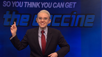 The vaccine rush is a dark game show hosted by Fauci on the 'SNL' cold open
