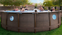 Host backyard pool parties this summer with an above ground pool